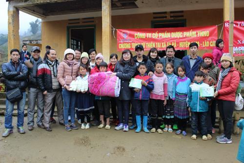 YNNO Pharma mang hơi ấm tình thương đến với các em nhỏ Trường Sả Xéng, xã Sa Pả, huyện Sa Pa, tỉnh Lào Cai